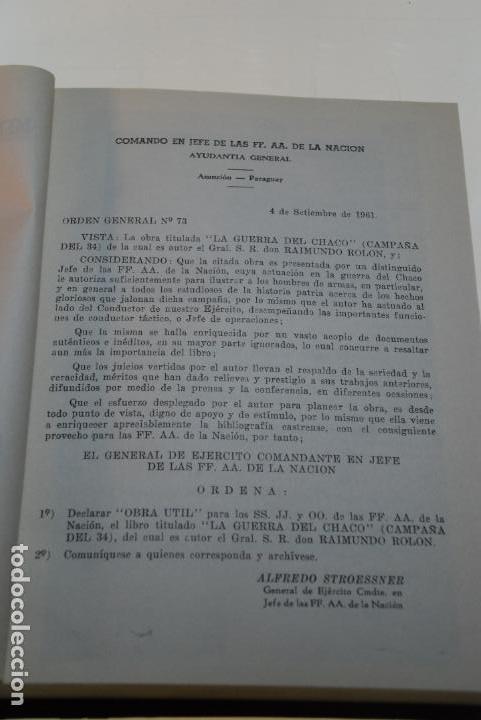 Libros antiguos: LA GUERRA DEL CHACO - GRAL. RAIMUNDO ROLON - CAMPAÑA 1934 - 2 TOMOS - DESPUÉS DE CAMPO VIA HASTA EL - Foto 13 - 144564334
