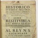 Libros antiguos: MEMORIAL HISTORICO, IURIDICO, POLITICO DE LA S. IGLESIA CATEDRAL DE LA PUEBLA DE LOS ANGELES, EN LA. Lote 142425254