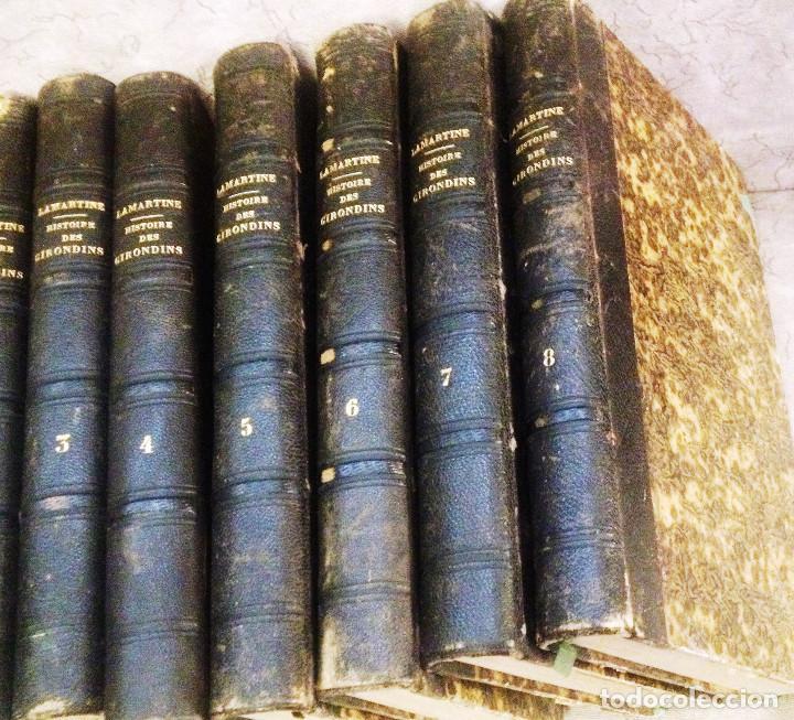 HISTOIRE DES GIRONDINS- A. DE LAMARTINE- 1848- EDIT. FURNE- COQUEBERT (PARIS)- 7 TOMOS- EN FRANCÉS- (Libros antiguos (hasta 1936), raros y curiosos - Historia Moderna)