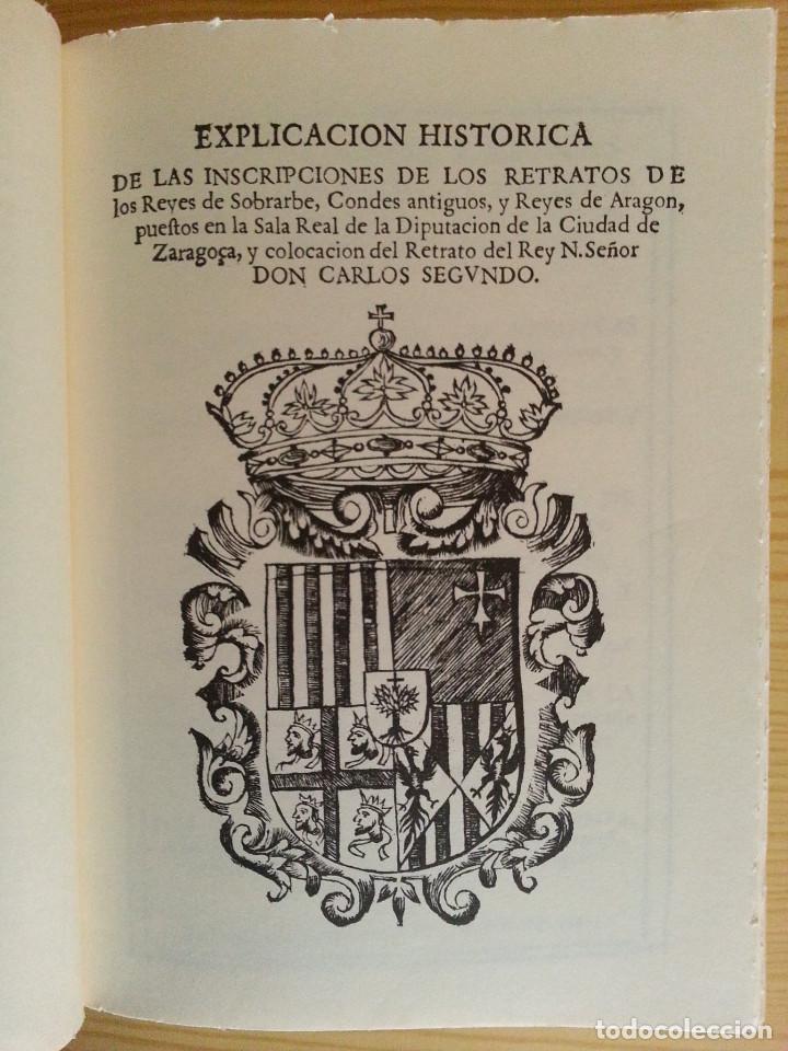 Libros antiguos: JERÓNIMO BLANCAS: AD REGUM ARAGONUM. INSCRIPCIONES RETRATOS REYES SOBRARBE Y ARAGÓN - FACSÍMIL, RARO - Foto 5 - 146683386