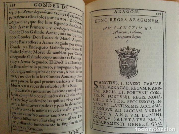Libros antiguos: JERÓNIMO BLANCAS: AD REGUM ARAGONUM. INSCRIPCIONES RETRATOS REYES SOBRARBE Y ARAGÓN - FACSÍMIL, RARO - Foto 8 - 146683386