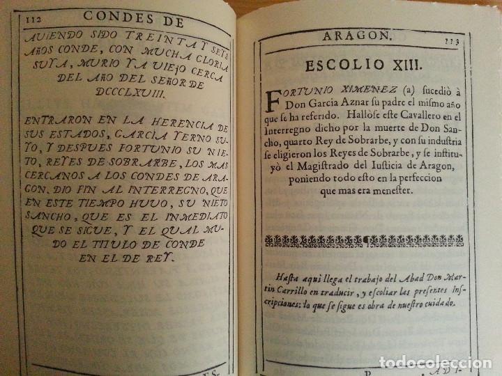 Libros antiguos: JERÓNIMO BLANCAS: AD REGUM ARAGONUM. INSCRIPCIONES RETRATOS REYES SOBRARBE Y ARAGÓN - FACSÍMIL, RARO - Foto 10 - 146683386