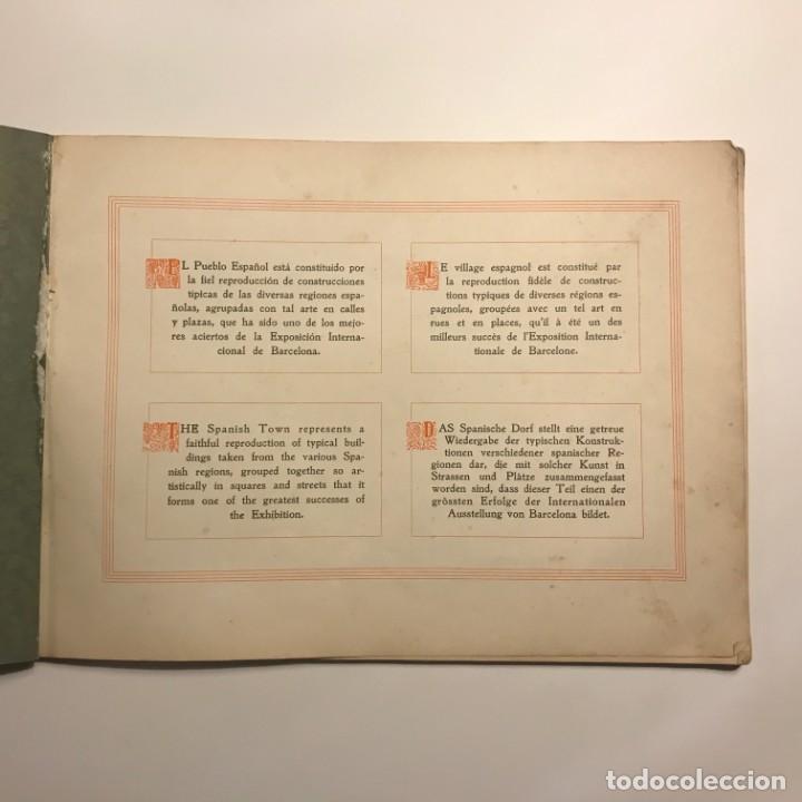 Libros antiguos: EXPOSICION INTERNACIONAL DE BARCELONA. EL PUEBLO ESPAÑOL. 1929. ALBUM FOTOGRAFICO - Foto 2 - 147424038