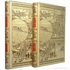 Libros antiguos: 1899 - LA VIDA EN LA AMÉRICA DEL NORTE - ILUSTRADO, GRABADOS - ENCUADERNACIÓN, PERGAMINO MODERNISTA. Lote 147780402
