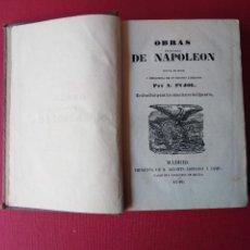Libros antiguos: OBRAS ESCOGIDAS DE NAPOLEON POR A PUJOL 1846 . Lote 147887674