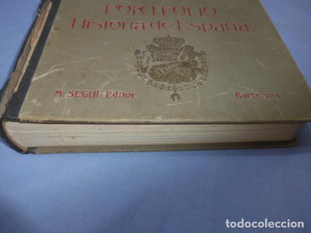 Libros antiguos: * Antiguo libro de portfolio de historia de españa, tomo 2. Original. ZX - Foto 2 - 148537510