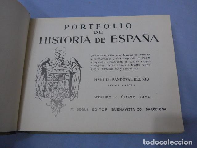 Libros antiguos: * Antiguo libro de portfolio de historia de españa, tomo 2. Original. ZX - Foto 4 - 148537510