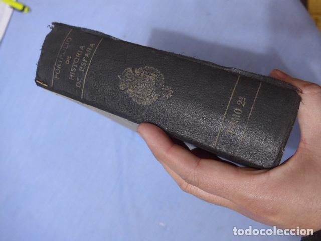 Libros antiguos: * Antiguo libro de portfolio de historia de españa, tomo 2. Original. ZX - Foto 9 - 148537510