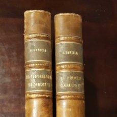 Libros antiguos: EL TESTAMENTO DE CARLOS II + EL PRIMER CARLOS III / ALFONSO DANVILA. Lote 148814008