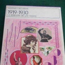 Libros antiguos: 1919-1930 LA REBELION DE LAS MASAS. Lote 150221058
