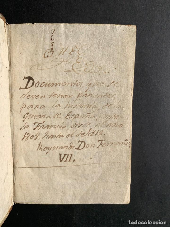 Libros antiguos: 1808 - Varios Papeles - Documentos relativos a la ocupación de Napoleón - Guerra de Independencia - - Foto 2 - 150256578