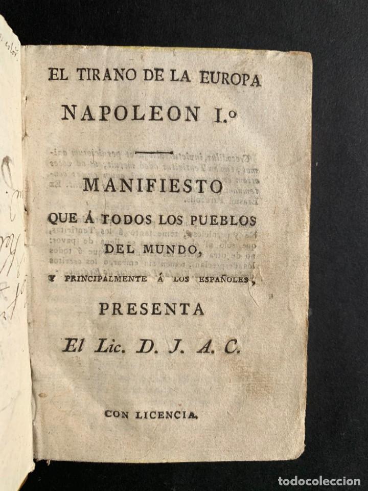 Libros antiguos: 1808 - Varios Papeles - Documentos relativos a la ocupación de Napoleón - Guerra de Independencia - - Foto 3 - 150256578