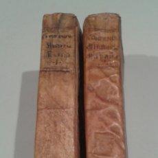 Libros antiguos: COMPENDIO DE LA HISTORIA DE ESPAÑA. DUCHESNE. 1767. DOS TOMOS. AÑO DE LA EXPULSIÓN DE LOS JESUITAS.. Lote 150302442