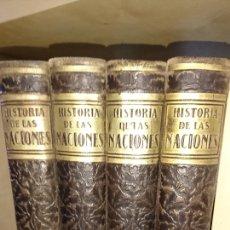 Libros antiguos: HISTORIA DE LAS NACIONES 4 TOMOS. Lote 152160850