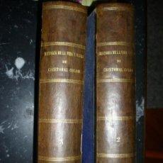Libros antiguos: HISTORIA DE LA VIDA Y VIAJES DE CRISTOBAL COLON ROSELLY DE LORGUES 1878 BARCELONA TOMO 2-3. Lote 153489110
