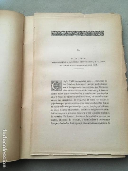 Libros antiguos: MEMORIA ACERCA DEL RESTABLECIMIENTO DE LOS ESTUDIOS DE DERECHO EN EL SACRO-MONTE DE GRANADA. - Foto 5 - 153530810