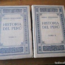 Libros antiguos: HISTORIA DEL PERÚ. TOMO I-II. DIEGO FERNANDEZ. MADRID. 1913.. Lote 154129786