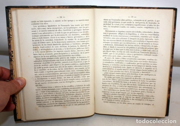 Libros antiguos: NOTICIA HISTORICA DE LA REPUBLICA DE VENEZUELA-1873. - Foto 7 - 154208082
