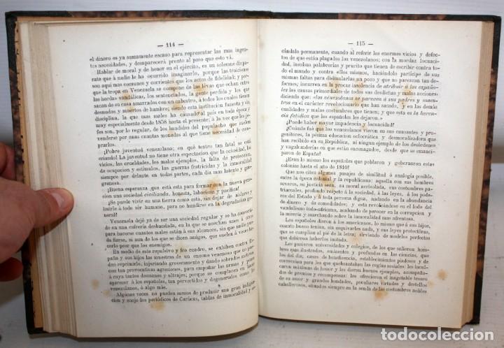 Libros antiguos: NOTICIA HISTORICA DE LA REPUBLICA DE VENEZUELA-1873. - Foto 8 - 154208082