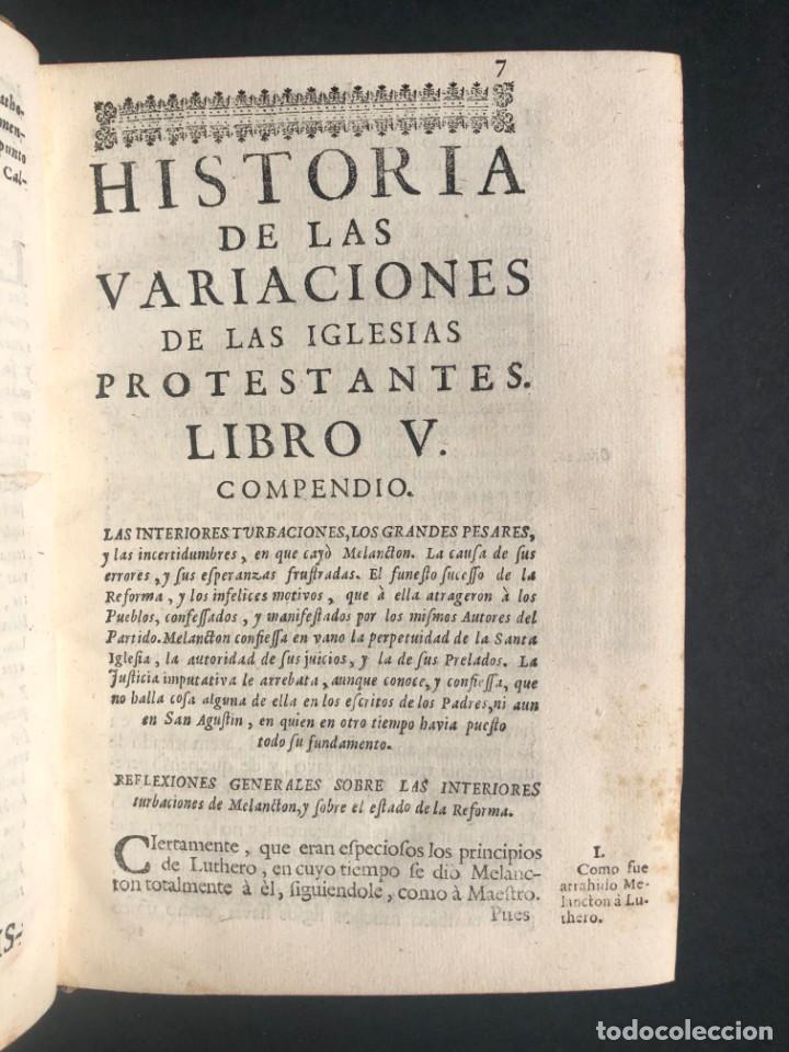 Alte Bücher: 1765 Martín Lutero - herejes - Calvino - Reforma HISTORIA DE LAS VARIACIONES DE LAS IGLESIAS PROTEST - Foto 4 - 154208222