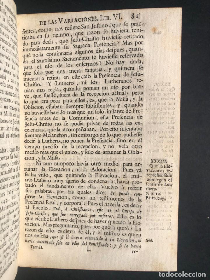 Alte Bücher: 1765 Martín Lutero - herejes - Calvino - Reforma HISTORIA DE LAS VARIACIONES DE LAS IGLESIAS PROTEST - Foto 6 - 154208222