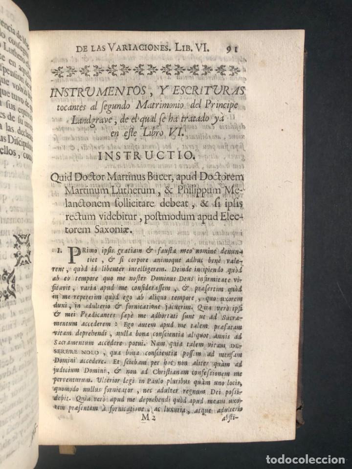 Alte Bücher: 1765 Martín Lutero - herejes - Calvino - Reforma HISTORIA DE LAS VARIACIONES DE LAS IGLESIAS PROTEST - Foto 7 - 154208222