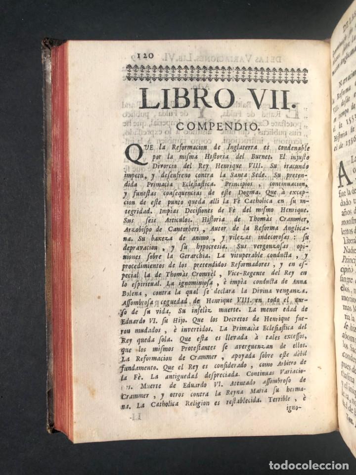 Alte Bücher: 1765 Martín Lutero - herejes - Calvino - Reforma HISTORIA DE LAS VARIACIONES DE LAS IGLESIAS PROTEST - Foto 8 - 154208222