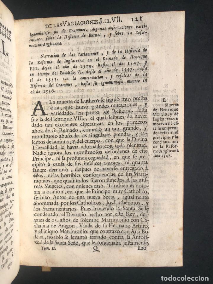 Alte Bücher: 1765 Martín Lutero - herejes - Calvino - Reforma HISTORIA DE LAS VARIACIONES DE LAS IGLESIAS PROTEST - Foto 9 - 154208222