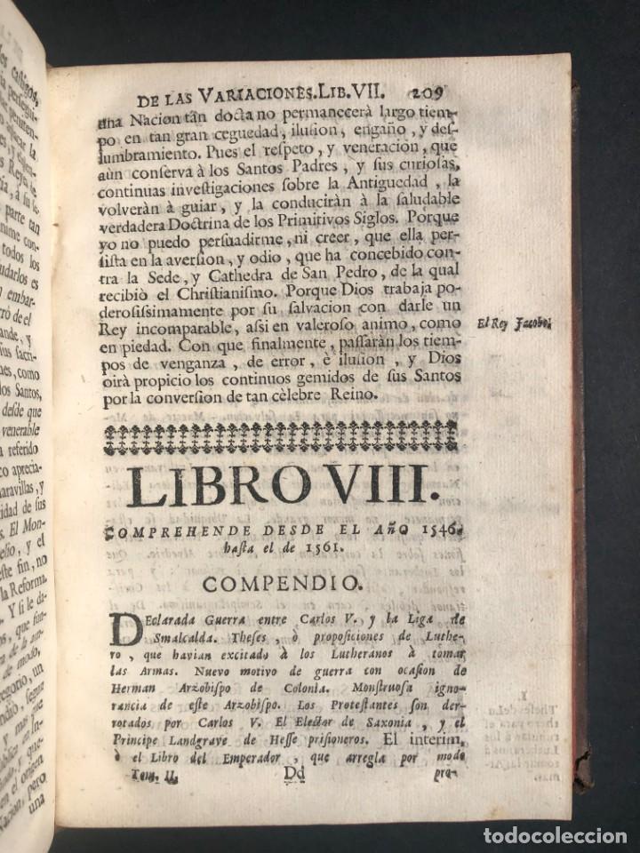 Alte Bücher: 1765 Martín Lutero - herejes - Calvino - Reforma HISTORIA DE LAS VARIACIONES DE LAS IGLESIAS PROTEST - Foto 11 - 154208222
