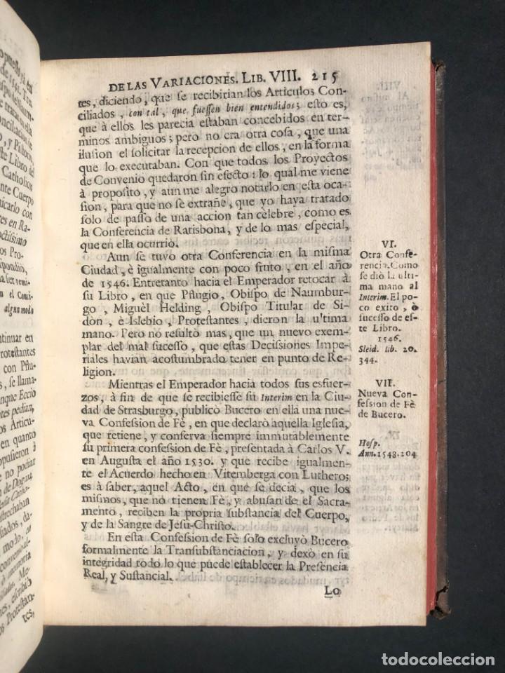 Alte Bücher: 1765 Martín Lutero - herejes - Calvino - Reforma HISTORIA DE LAS VARIACIONES DE LAS IGLESIAS PROTEST - Foto 12 - 154208222