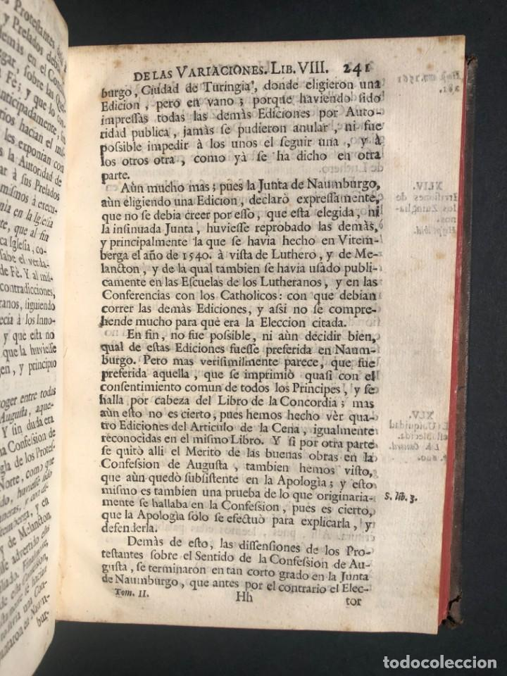 Alte Bücher: 1765 Martín Lutero - herejes - Calvino - Reforma HISTORIA DE LAS VARIACIONES DE LAS IGLESIAS PROTEST - Foto 13 - 154208222
