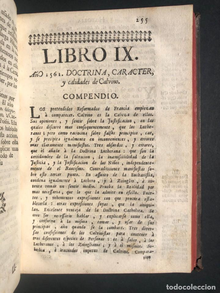 Alte Bücher: 1765 Martín Lutero - herejes - Calvino - Reforma HISTORIA DE LAS VARIACIONES DE LAS IGLESIAS PROTEST - Foto 14 - 154208222