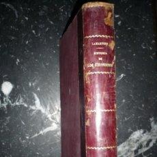 Libros antiguos: HISTORIA DE LOS GIRONDINOS M.A.DE LAMARTINE 1860 MADRID . Lote 154455010