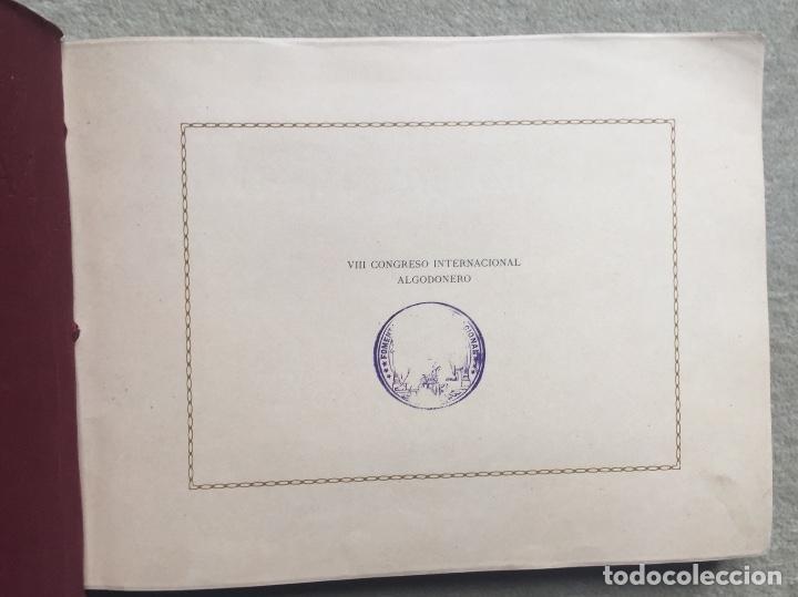 Libros antiguos: Álbum VIII Congreso Algodonero - Barcelona Año 1911 - COMPLETO - Foto 2 - 154804822