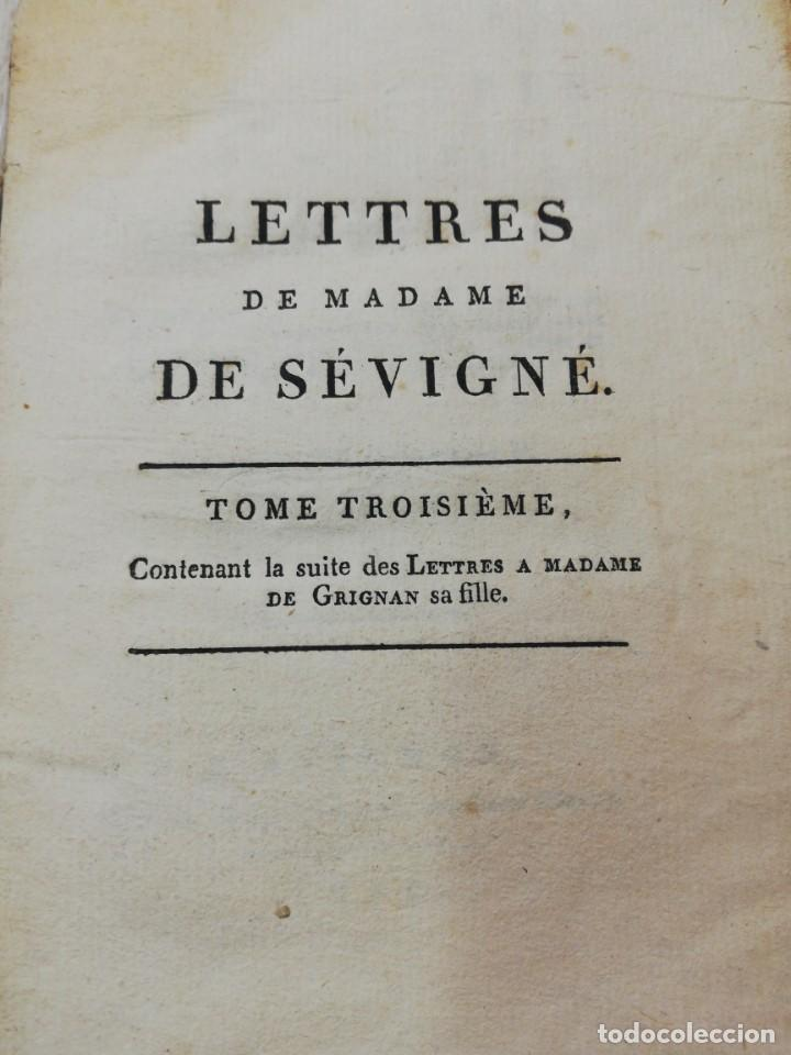 LETTRES DE MADAME DE SEVIGNE. TOME TROISEME. AVIGNON 1804 (Libros antiguos (hasta 1936), raros y curiosos - Historia Moderna)