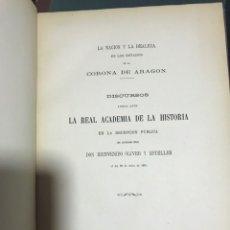 Libros antiguos: LA NACIÓN Y LA REALEZA EN LOS ESTADOS DE LA CORONA DE ARAGÓN. Lote 155418148