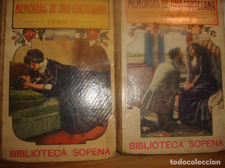 Libros antiguos: MEMORIAS DE UNA CORTESANA I Y II DE EDUARDO ZAMACOIS. BIBLIOTECA SOPENA 1903. 539 PGNS. PORTE GRATIS - Foto 2 - 155546266