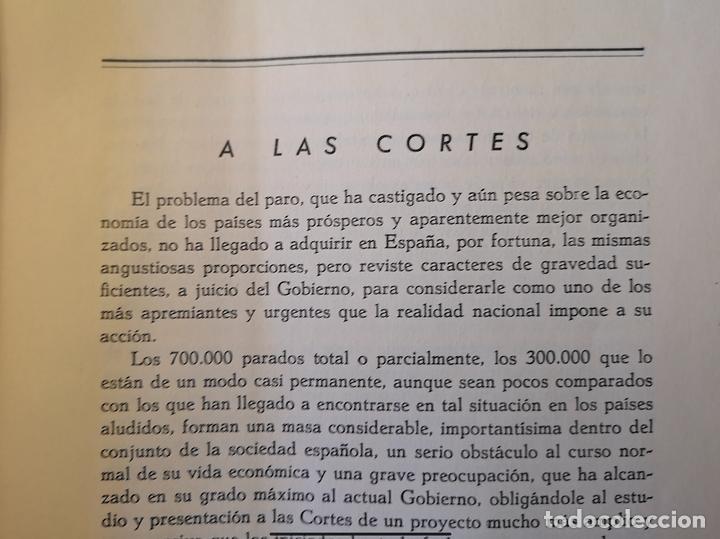Libros antiguos: Proyecto de ley contra el paro obrero forzoso, 1935 - Foto 2 - 155591762