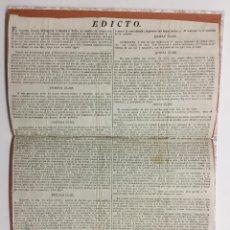 Libros antiguos: [EDICTO.] EL SUPREMO CONSEJO DE REGENCIA DE ESPAÑA É INDIAS... NO SOLAMENTE HA DECLARADO DESDE EL 21. Lote 123263623