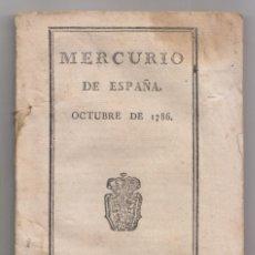 Alte Bücher - MERCURIO DE ESPAÑA. OCTUBRE DE 1786. MADRID, IMPRENTA REAL, 1786 - 155706082