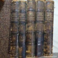Libros antiguos: COLECCIÓN REVOLUCION FRANCESA(5 TOMOS)1876.HISTORIA DEL CONSULADO DEL IMPERIO.BIEN CONSERVADO.. Lote 155864506