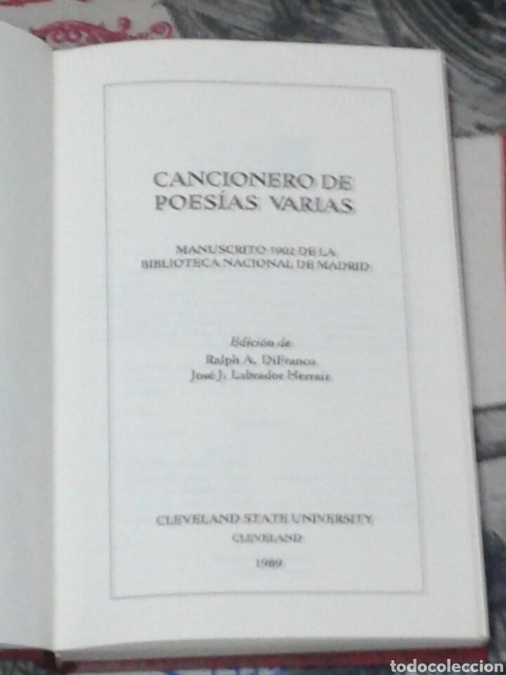 Libros antiguos: Cancionero de poesías varias. MN 3902. DiFranco. Labrador. 1989. 300 ejemplares. - Foto 2 - 155869988