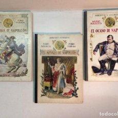 Libros antiguos: MARIO PASCHETTA, PEDRO PEDRAZA - NAPOLEÓN (1918) (3 LIBROS ILUSTRADOS). Lote 157306086