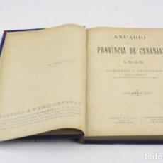 Libros antiguos: ANUARIO DE LA PROVINCIA DE CANARIAS, 1905, CARMELO Z. ZUMBADO, AÑO 1, BARCELONA, LAS PALMAS.. Lote 159188930