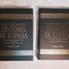 Libros antiguos: HISTORIA DE ESPAÑA DE RAMÓN MENÉNDEZ PIDAL, TOMO XXXV (I,II) LA EPOCA DEL ROMATICISMO ESPASA-CALPE. Lote 160476678