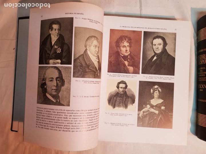 Libros antiguos: HISTORIA DE ESPAÑA DE RAMÓN MENÉNDEZ PIDAL, TOMO XXXV (I,II) LA EPOCA DEL ROMATICISMO ESPASA-CALPE - Foto 4 - 160476678