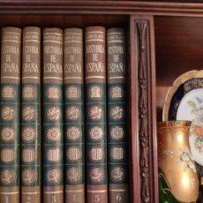 Libros antiguos: HISTORIA DE ESPAÑA.SALVAT EDITORES.MARQUES DE LOZOYA 6 TOMOS.. Lote 161113154