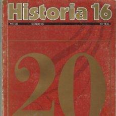 Libros antiguos: HISTORIA 16 20 AÑOS. Lote 162801990