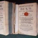 Libros antiguos: MILITAR. ORDENANZAS DE SU MAJESTAD PARA SUS EJÉRCITOS. PRIMERA EDICIÓN 1768. OBRA COMPLETA. Lote 164277426