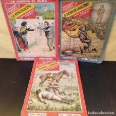 Libri antichi: LA GUERRA DE CUBA. EPISODIOS CÉLEBRES DE ESPAÑA. 3 TOMOS. MUY RARO. Lote 165414614